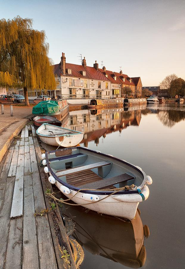 Boats Photograph - Boats On The Ouse by George Johnson