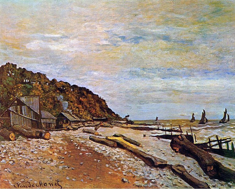Boatyard Near Honfleur Painting - Boatyard Near Honfleur by Claude Monet