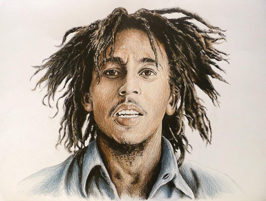 Bob Marley Drawing By Andrew Read