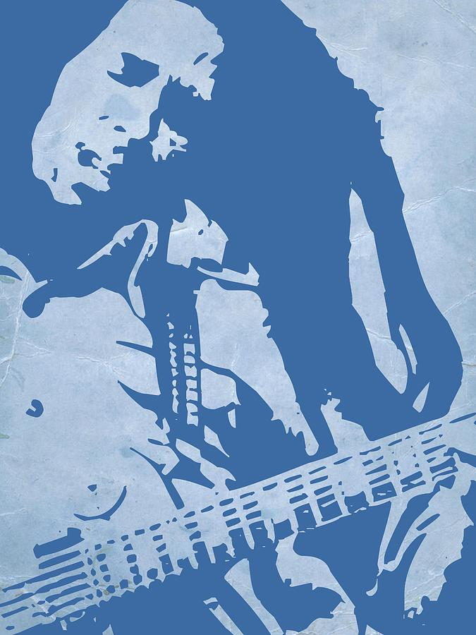 Bob Marley Painting - Bob Marley Blue by Naxart Studio