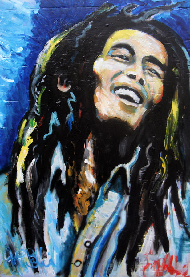 Marley Painting - Bob Marley  by Jon Baldwin  Art