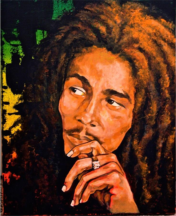 Bob marley painting by martha bennett for Bob marley mural