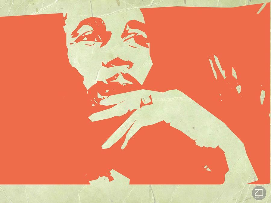 Painting - Bob Marley Orange by Naxart Studio