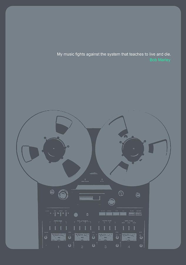 Bob Digital Art - Bob Marley Poster by Naxart Studio
