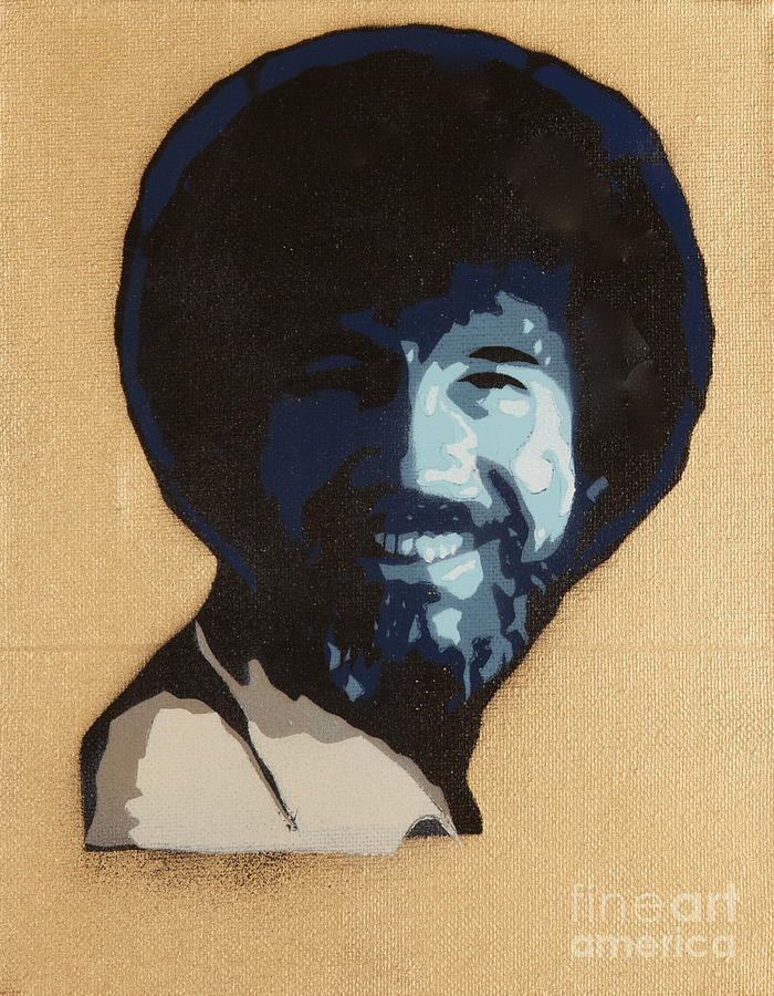 Happy Trees Painting - Bob Ross by Tom Evans