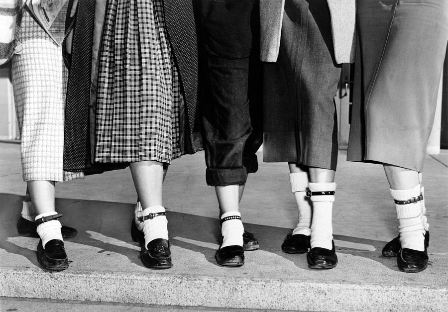 History Photograph - Bobby Socks, Ankle High, Often Thick Or by Everett