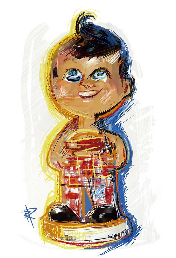 Bobble Head Mixed Media - Bobs Big Boy Bobble Head by Russell Pierce