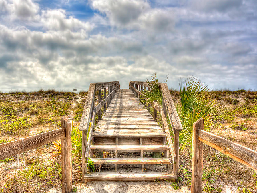 Boca Photograph - Boca Grande Boardwalk by Jenny Ellen Photography