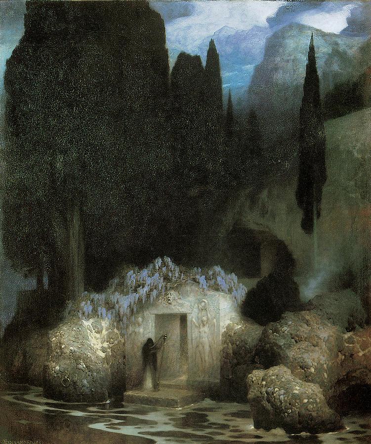 Ferdinand Keller Painting - Bocklins Tomb by Ferdinand Keller