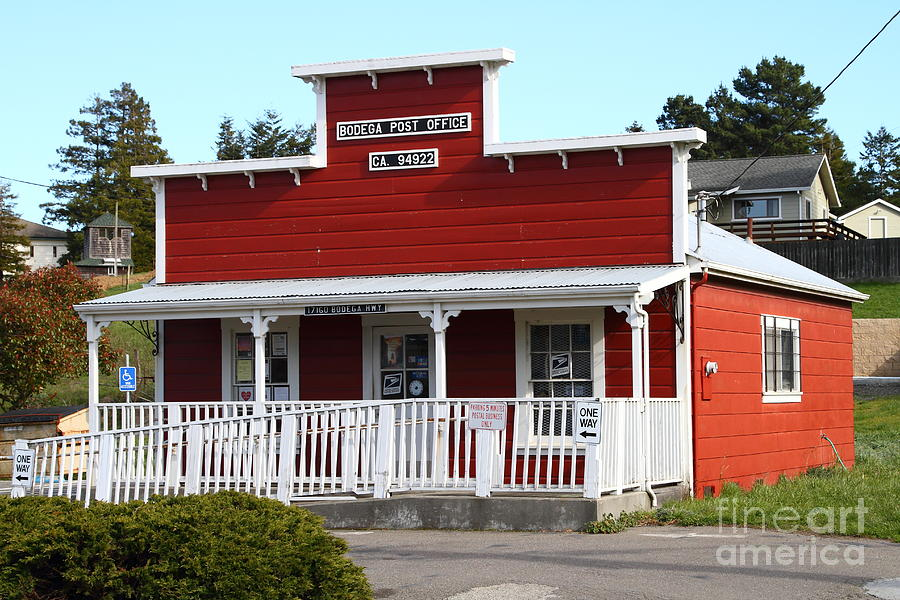 Postoffice Photograph - Bodega Post Office . Bodega Bay . Town Of Bodega . California . 7d12455 by Wingsdomain Art and Photography