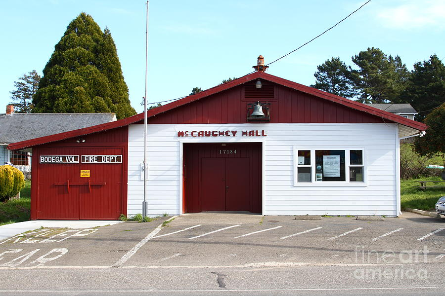 Fire Department Photograph - Bodega Volunteer Fire Department . Bodega Bay . Town Of Bodega . California . 7d12450 by Wingsdomain Art and Photography