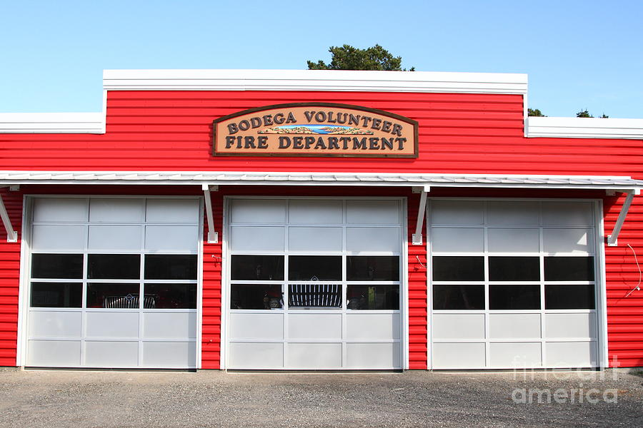 Fire Department Photograph - Bodega Volunteer Fire Department . Bodega Bay . Town Of Bodega . California . 7d12461 by Wingsdomain Art and Photography