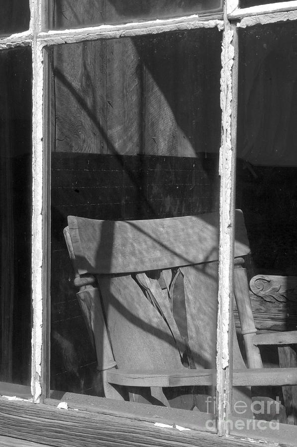 Sandra Bronstein Photograph - Bodi Ghost Town Window by Sandra Bronstein