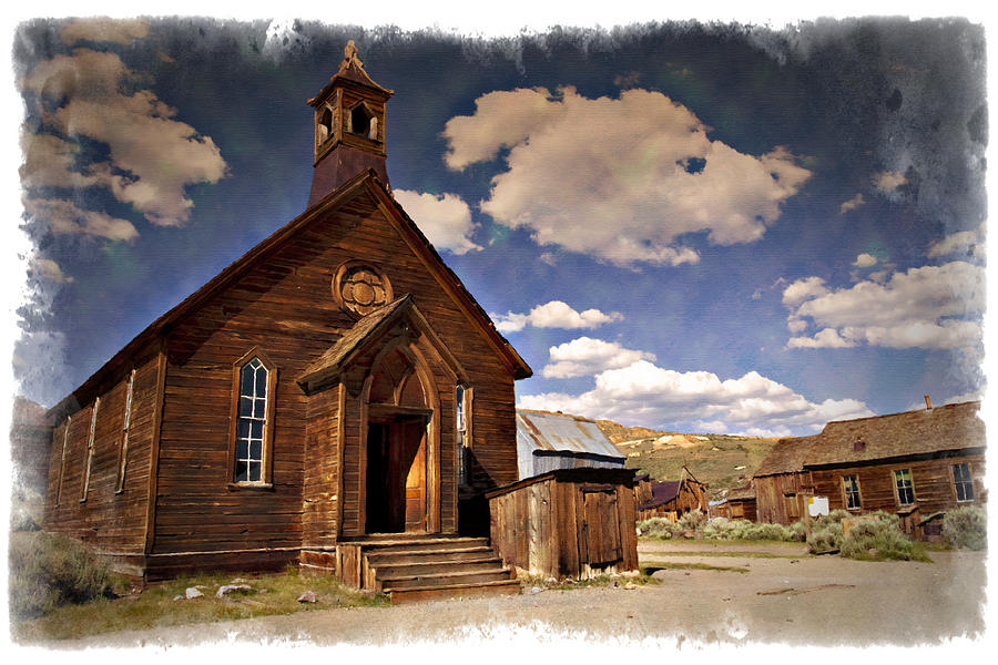 Bodie Photograph - Bodie Church - Impressions by Ricky Barnard