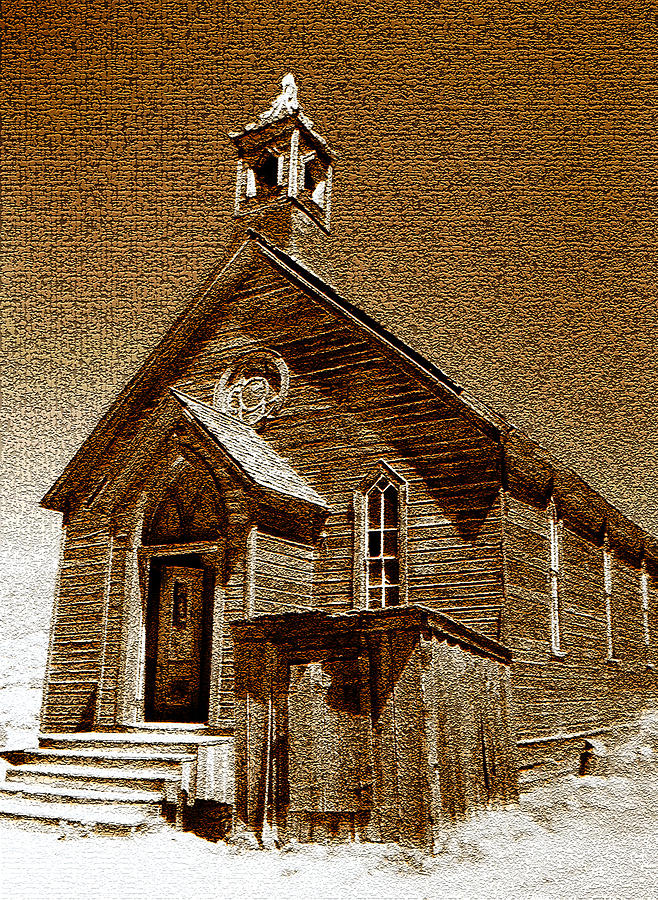 Fine Art Photography Photograph - Bodie Church by David Lee Thompson