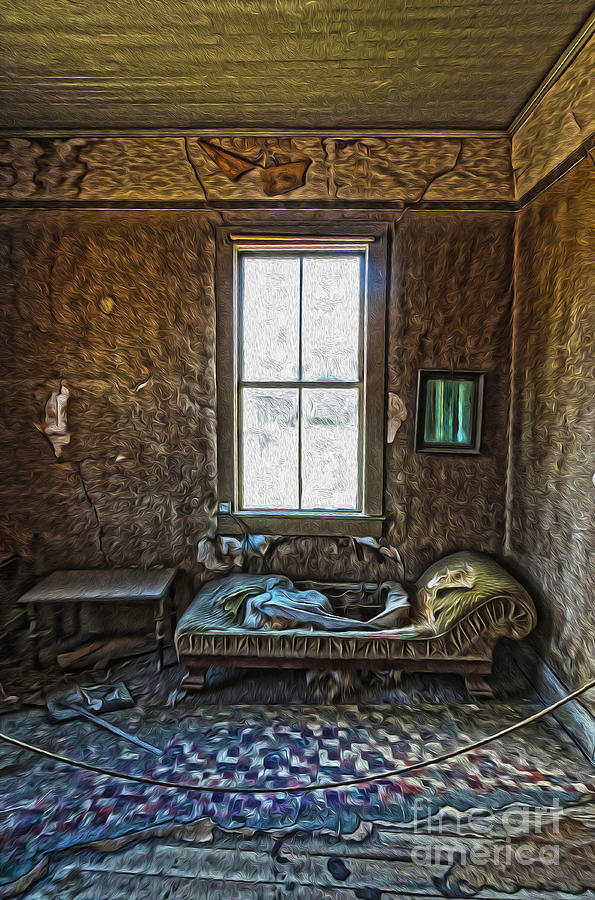 Bodie Ghost Town Painting - Bodie Ghost Town - Old House 04 by Gregory Dyer