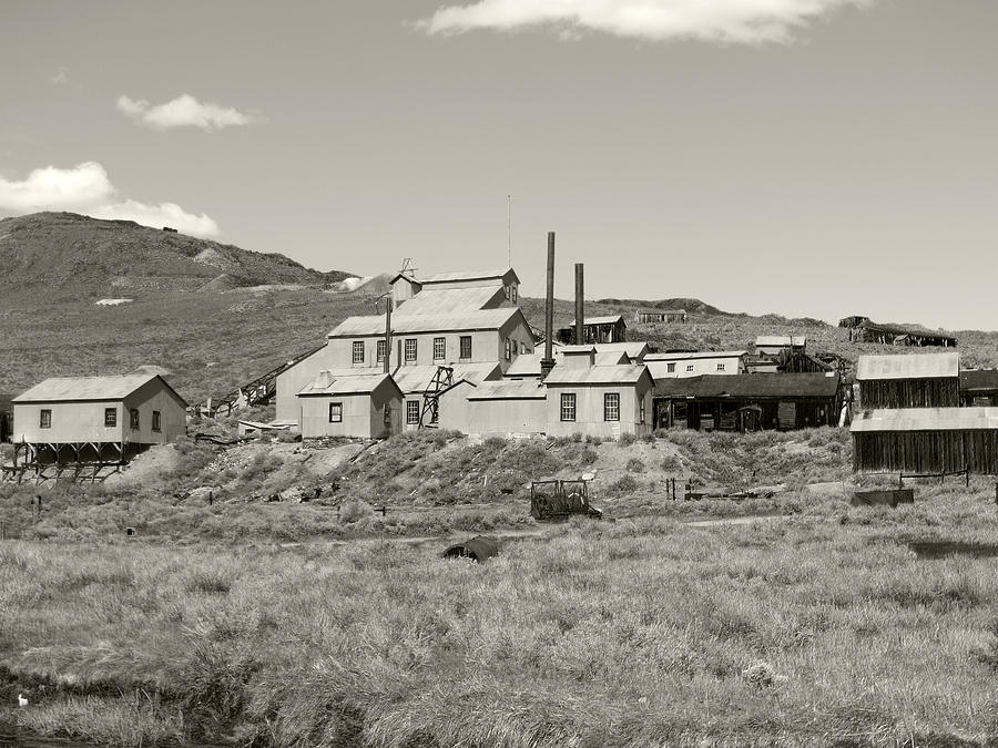 Bodie Photograph - Bodie Ghost Town California Gold Mine by Philip Tolok