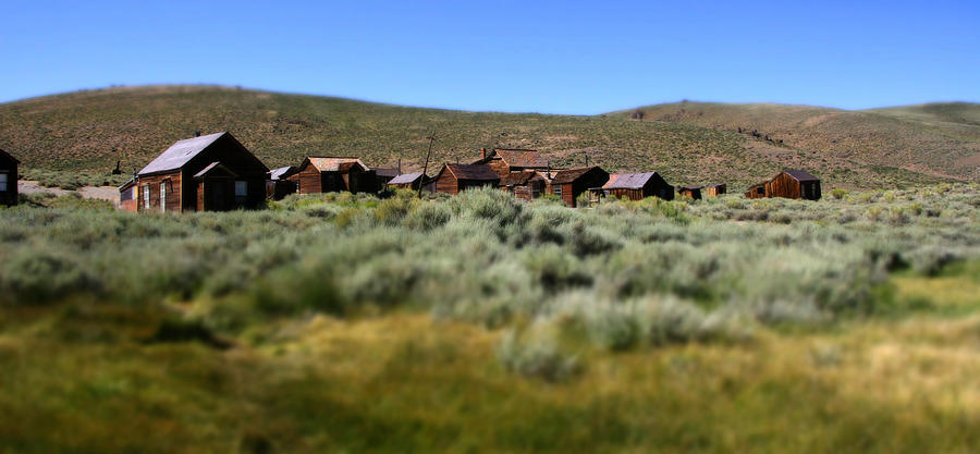 Bodie Ghost Town Photograph - Bodie Ghost Town Landscape by Chris Brannen