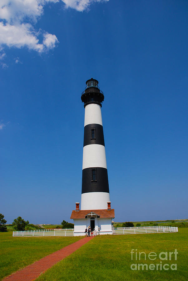 Bodie Island Photograph - Bodie Island Lighthouse Outer Banks by Susanne Van Hulst