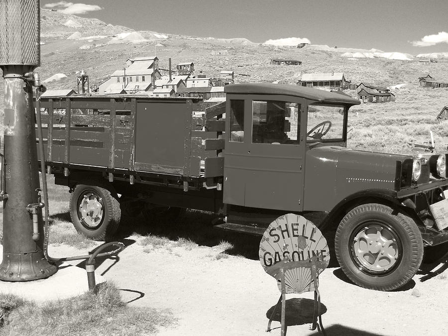 Bodie Photograph - Bodie Shell Gasoline 2 by Philip Tolok