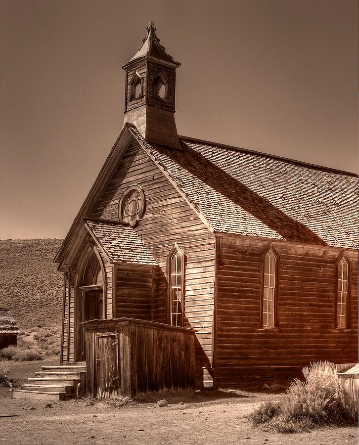 Bodie State Historic Park Photograph - Bodie State Historic Park California Church by Scott McGuire