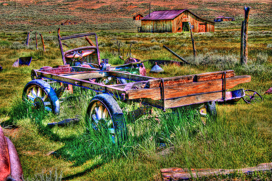 Hdr Photograph - Bodie Vintage Flatbed by Chris Brannen