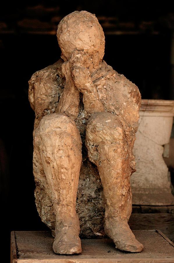 Body Cast, Pompeii Photograph by