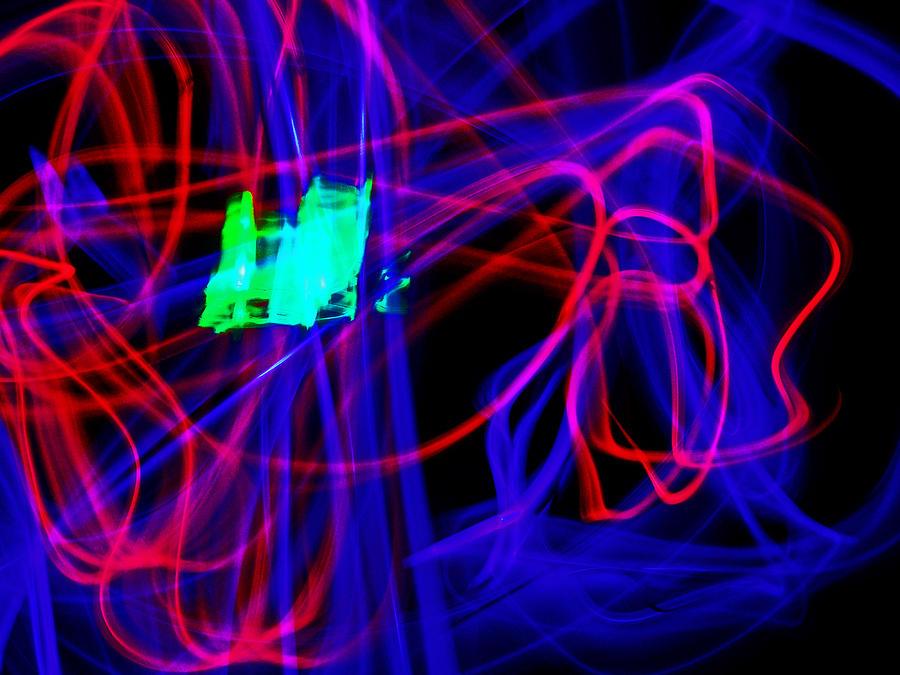 Light Bending Photograph - Body Movin 2 by Cyryn Fyrcyd
