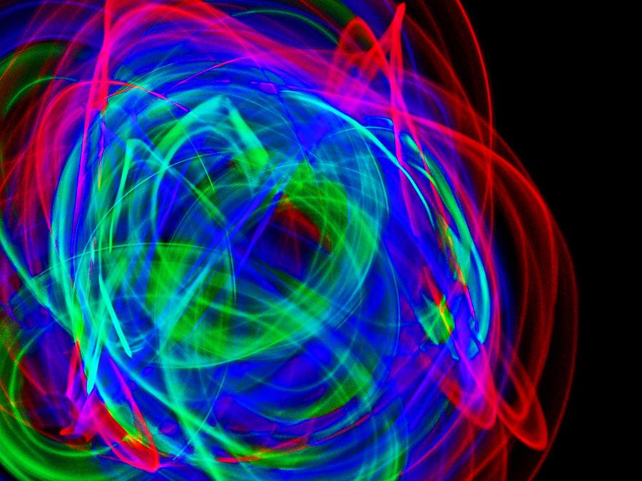 Light Bending Photograph - Body Movin 3 by Cyryn Fyrcyd
