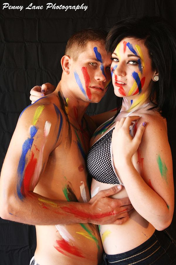 Couple Body Paint Canvas