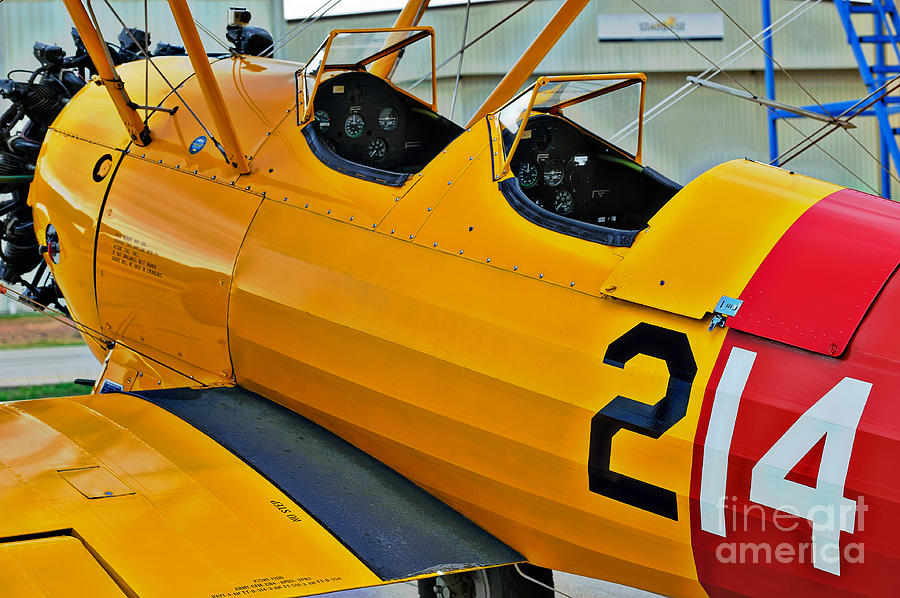 Aircraft Photograph - Boeing N2s-4 Stearman Kaydet by Charles Dobbs