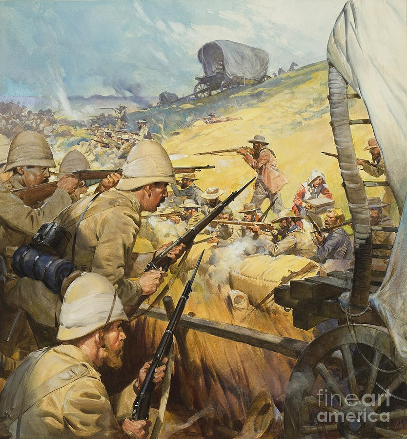 British Painting - Boer War Skirmish by James Edwin McConnell