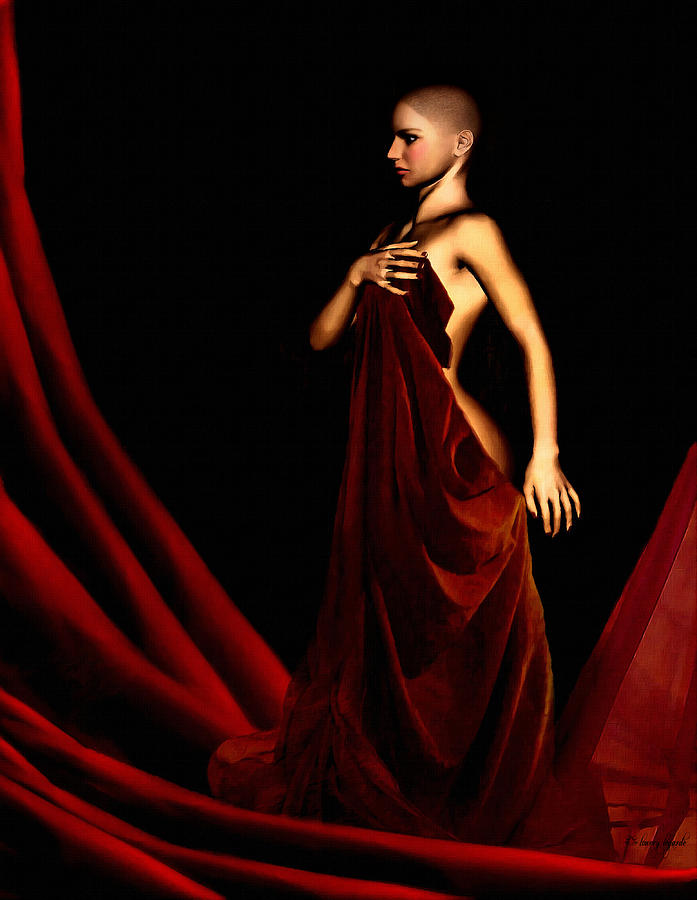Breast Cancer Digital Art - Bold And Red by Lourry Legarde