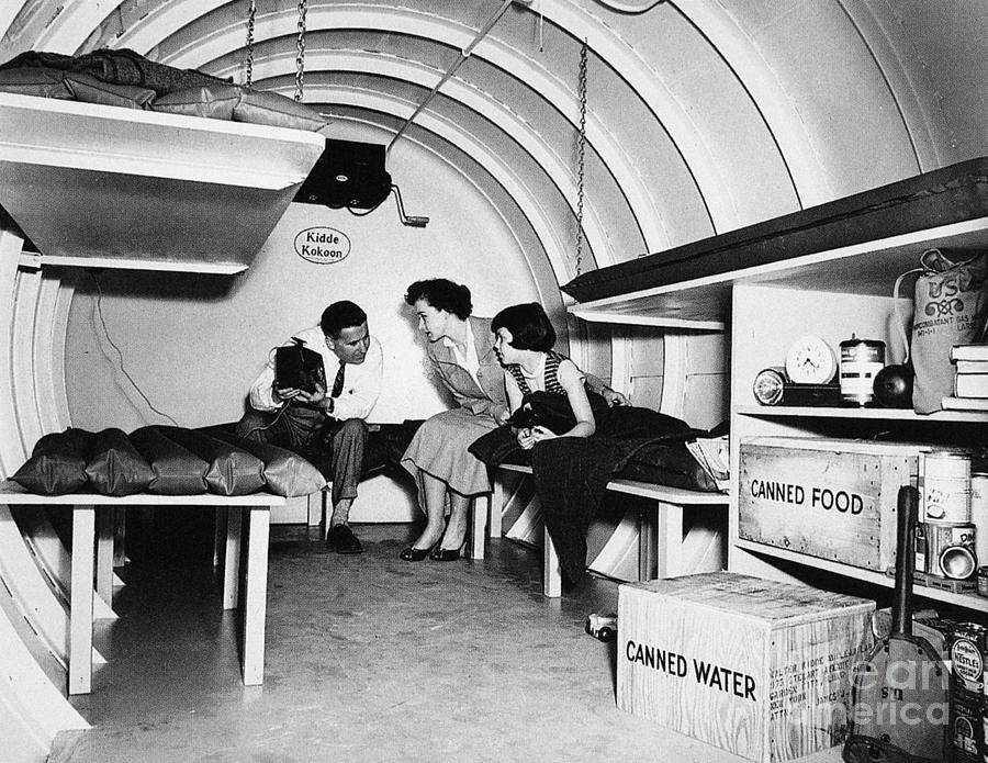 Bomb Shelter 1955 Photograph By Granger