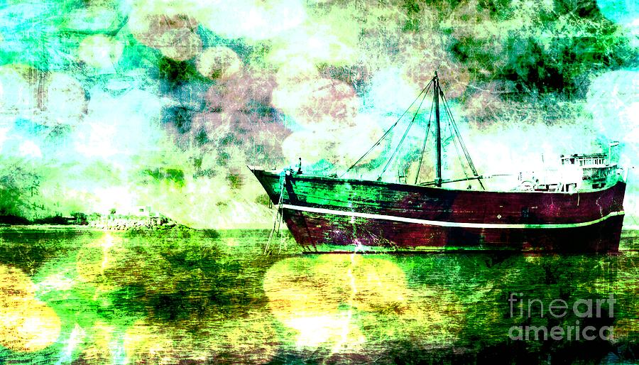 Boat Digital Art - Bon Voyage by Ankeeta Bansal