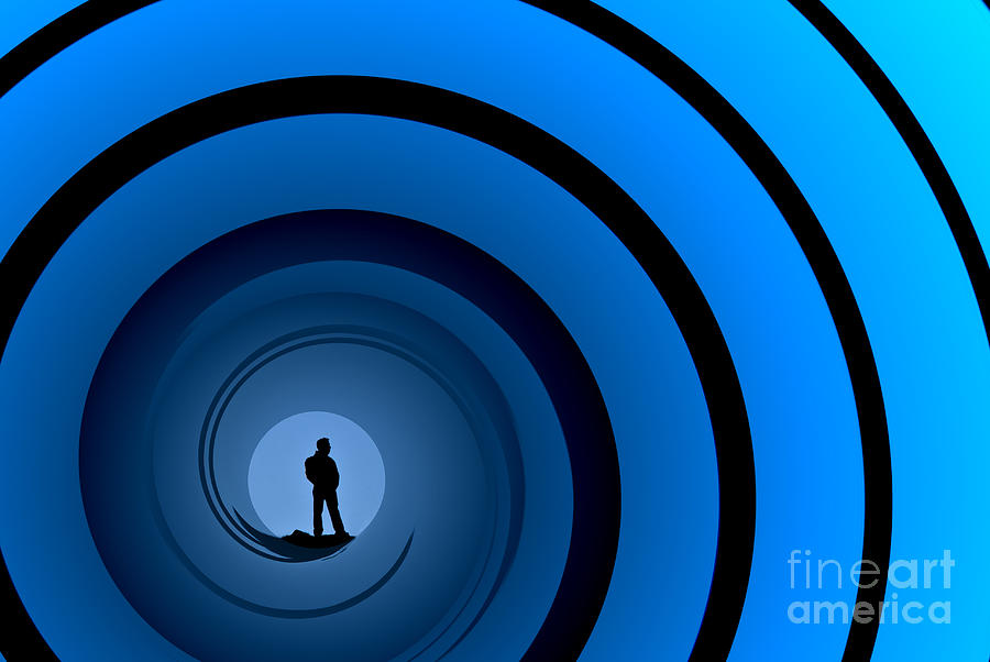 Male Silhouette Photograph - Bond Man by Steve Purnell