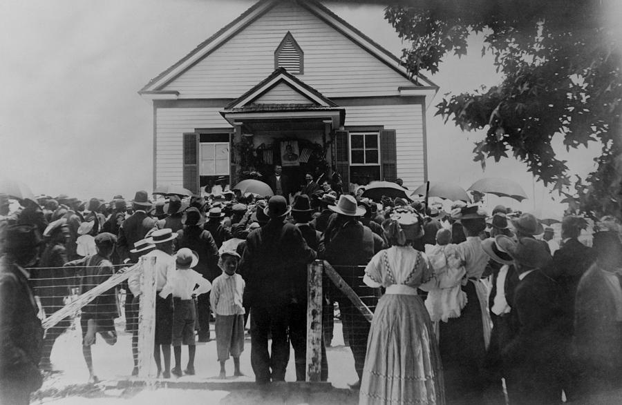 History Photograph - Booker T. Washington Addressing Crowd by Everett