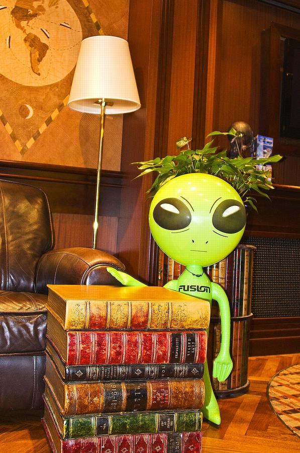 Alien Photograph - Bookworm Alien by Richard Henne