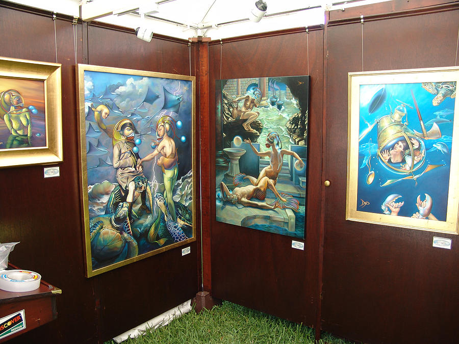 Booth 4 Painting by Patrick Anthony Pierson