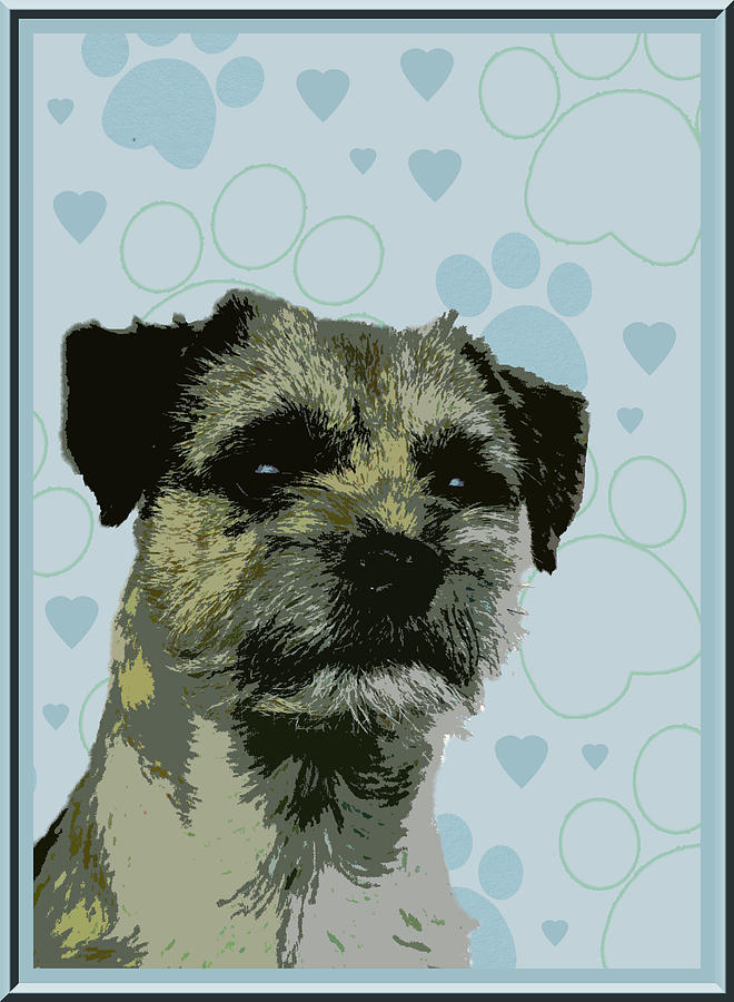 Border Terrier Photograph - Border Terrier by One Rude Dawg Orcutt