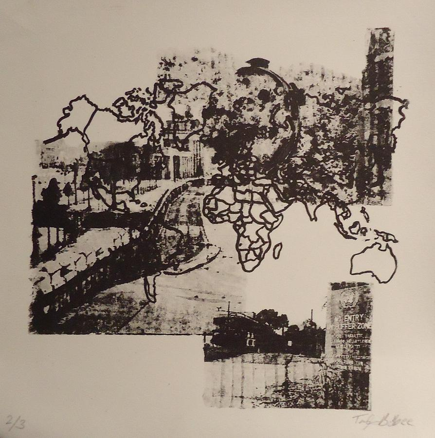 Lithography Mixed Media - Borders 1 by Taylor Lee Bisbee