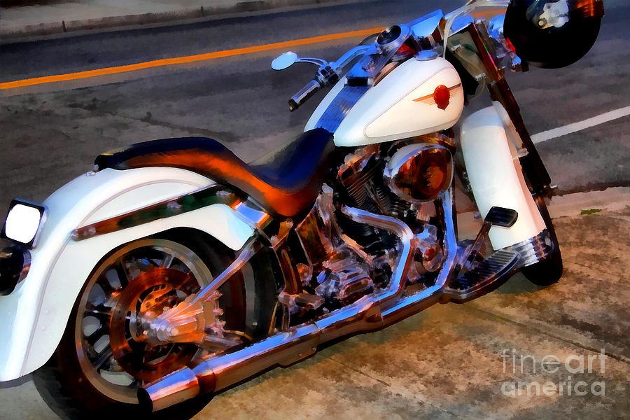 Transportation Photograph - Boss Hog . Harley-davidson .  7d12757 by Wingsdomain Art and Photography
