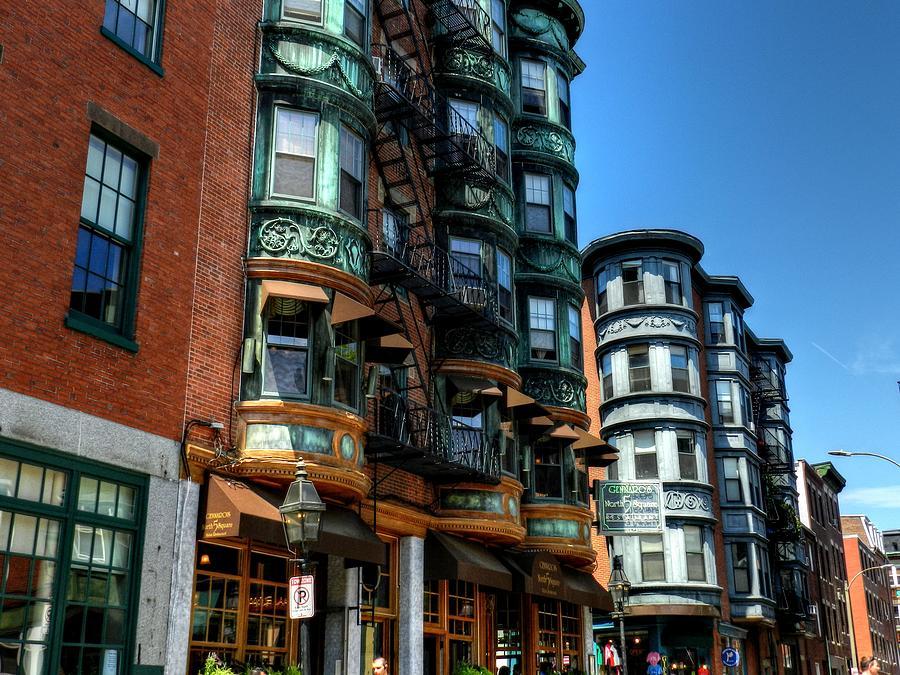 North Square Photograph - Boston 017 by Lance Vaughn