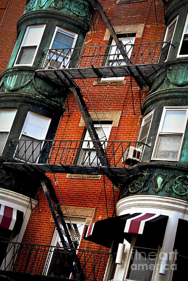Boston House Fragment Photograph