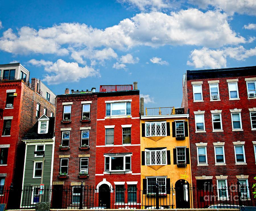 House Photograph - Boston Houses by Elena Elisseeva