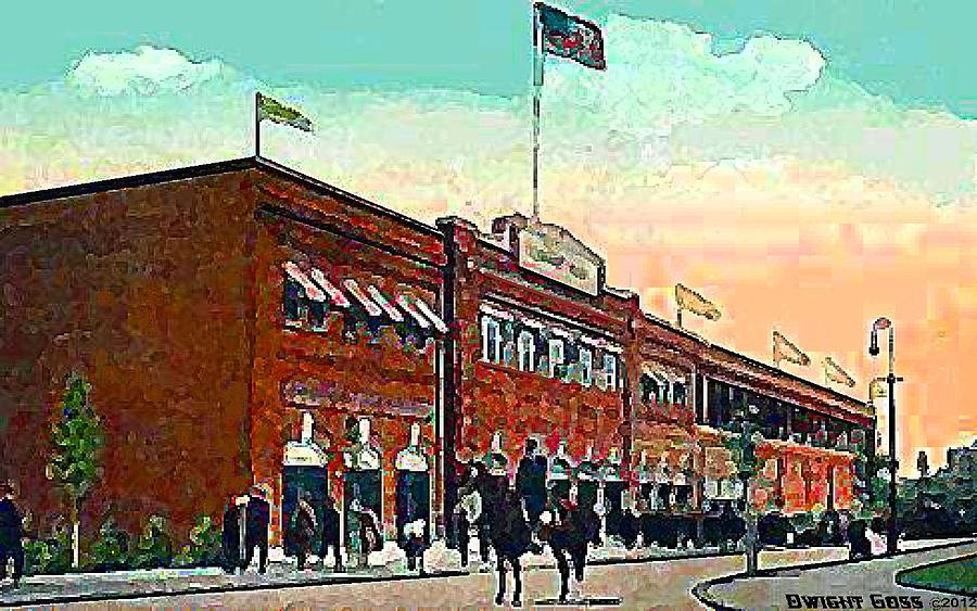Baseball Painting - Bostons Fenway Park In 1914 by Dwight Goss