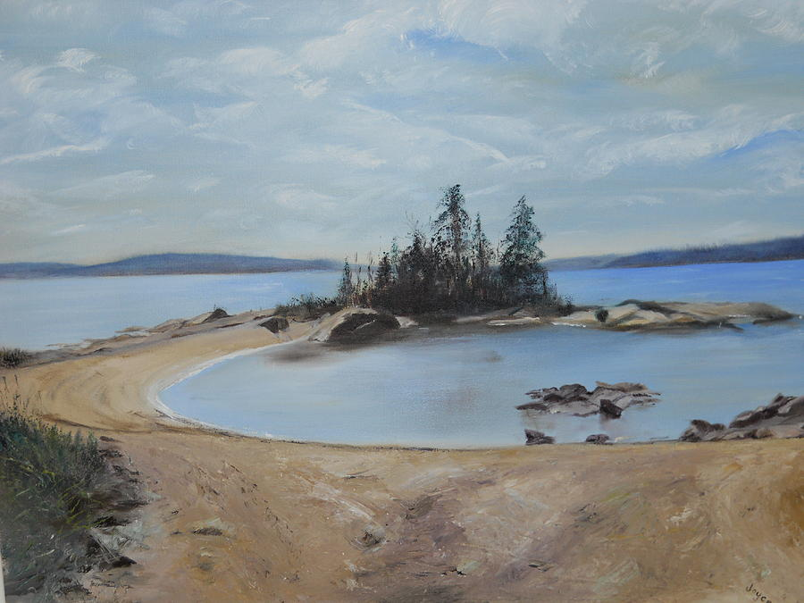 Landscape Painting - Boswells Point-lake Superior by Joyce Reid