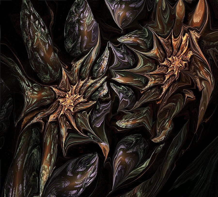 Fine Art Digital Art - Botanical Fantasy 123011 by David Lane