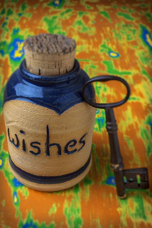 Jar Photograph - Bottle Of Wishes by Garry Gay