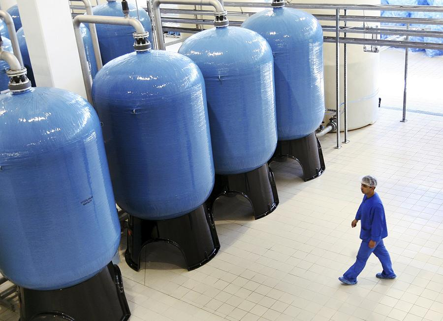 Water Photograph - Bottled Water Production by Ria Novosti